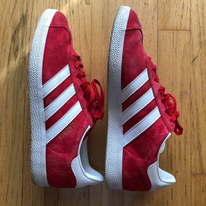 Adidas Red Gazelle Sneakers